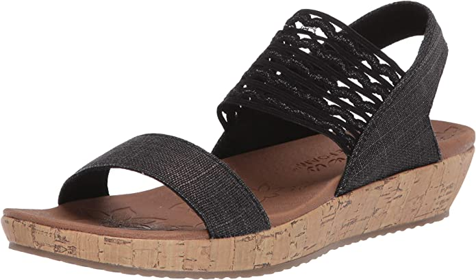 Skechers Womens Ankle Strap Wedge Sandal