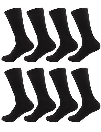 b3699916833e0 BambooMN Men's Rayon from Bamboo Fiber Moisture Wicking Luxury  Antibacterial Casual Dress Mid-Calf Socks