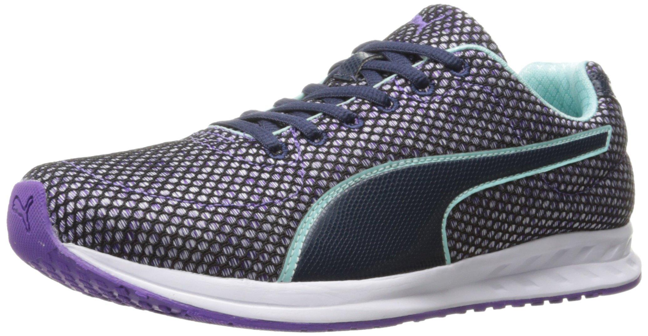 PUMA Women's Burst TECH WN's Cross-Trainer Shoe, Royal Purple-Aruba Blue-Peacoat, 9 M US