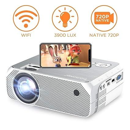 Amazon com: Bomaker Wi-Fi Projector, Wireless Screen