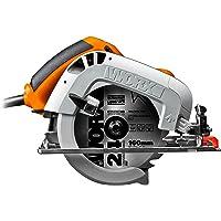 WORX WX425 handcirkelzaag, 1200 W, voor het zagen van hout, aluminium en staal, nauwkeurige versteksneden, instelbare…