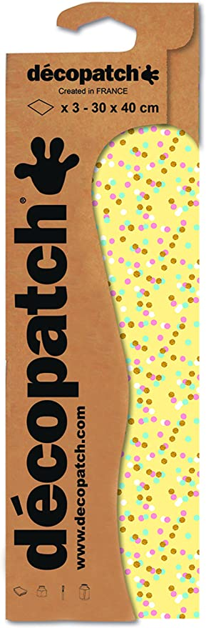 Pack of 3 Sheets Decopatch 30 x 40 cm Leaves Paper