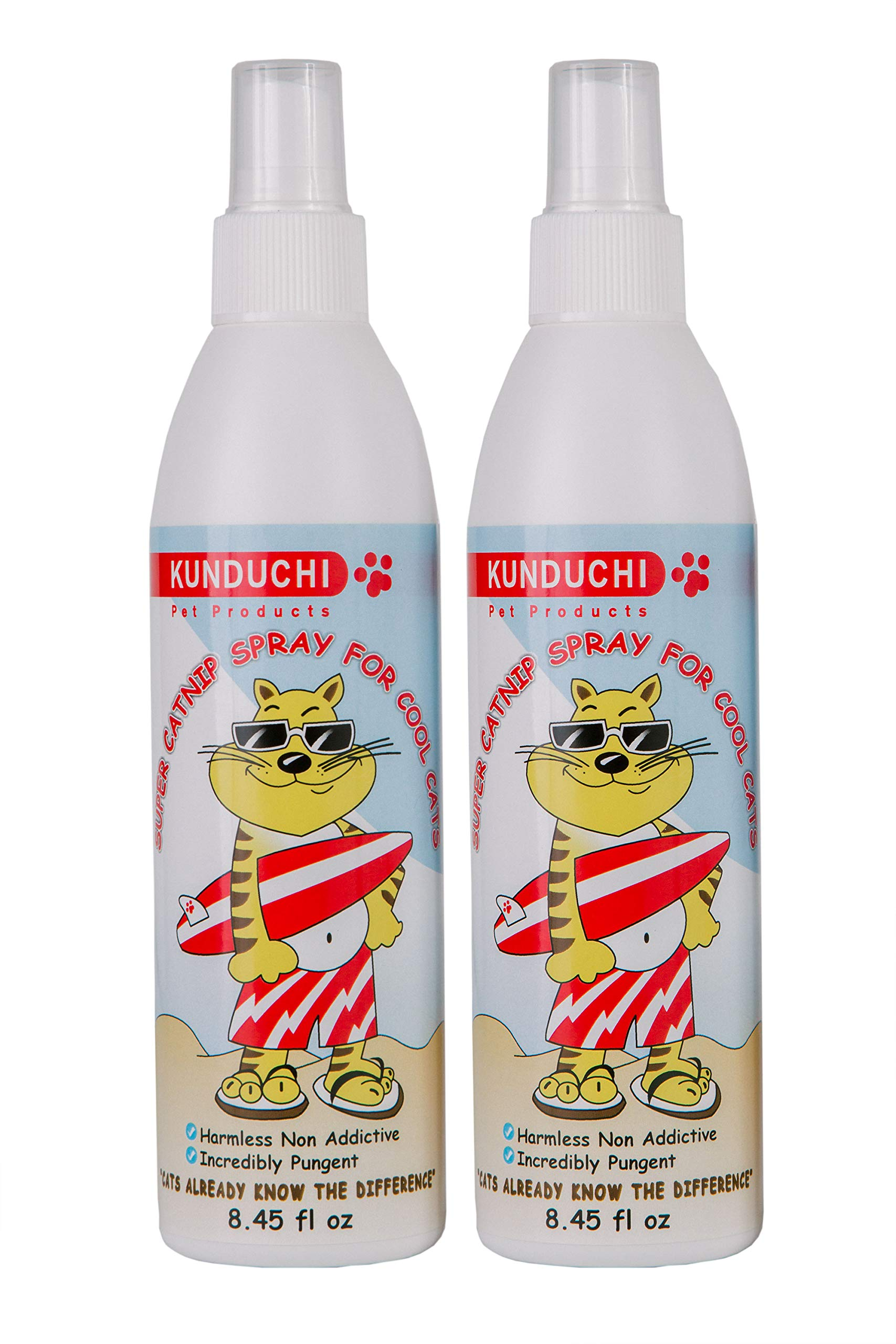 Kunduchi Pet Products Catnip Spray for Cats and Kitty Toys, Scratching Posts, and Potent 2 x 8.5 Ounces by Kunduchi Pet Products