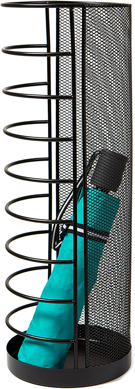 Mind Reader Mini Umbrella Stand Rack Holder for Home and Office, Black