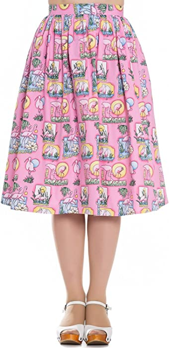 Hell Bunny Pin Up Vintage Spring 50s Skirt Bunny Rabbit Lamb Easter