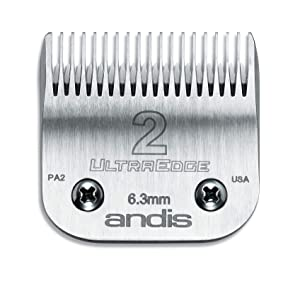 Andis 64078 UltraEdge Carbon Infused Steel Clipper Blade, Size 2, 1/4-Inch Cut Length