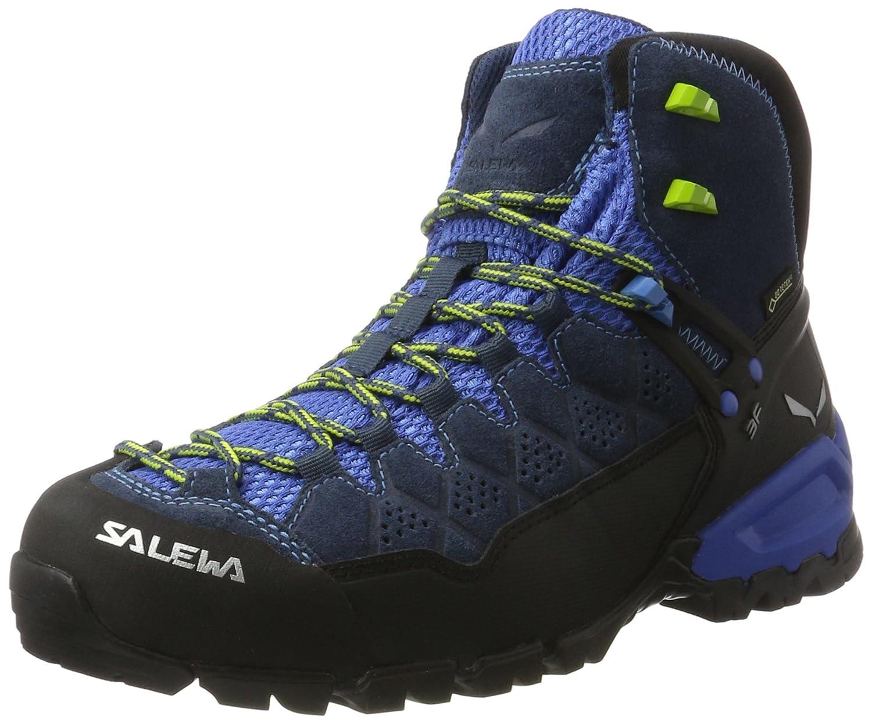 SALEWA Ms ALP Trainer Mid GTX, botas de Senderismo para Hombre azul verde (Dark DenimCactus 0361)