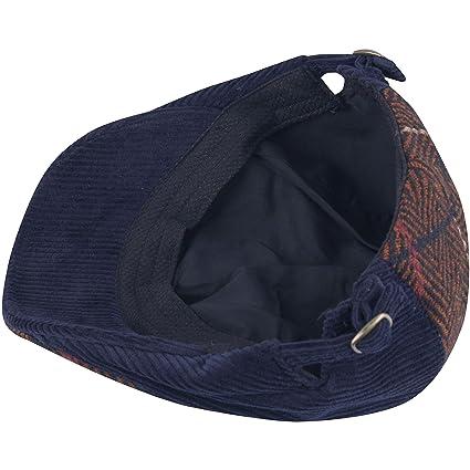 9e7b6a795b3 RaOn G160 Herringbone Wool Corduroy Beret Newsboy Cap Plus Big Size XL XXL  Dad Hat (Black) at Amazon Men s Clothing store