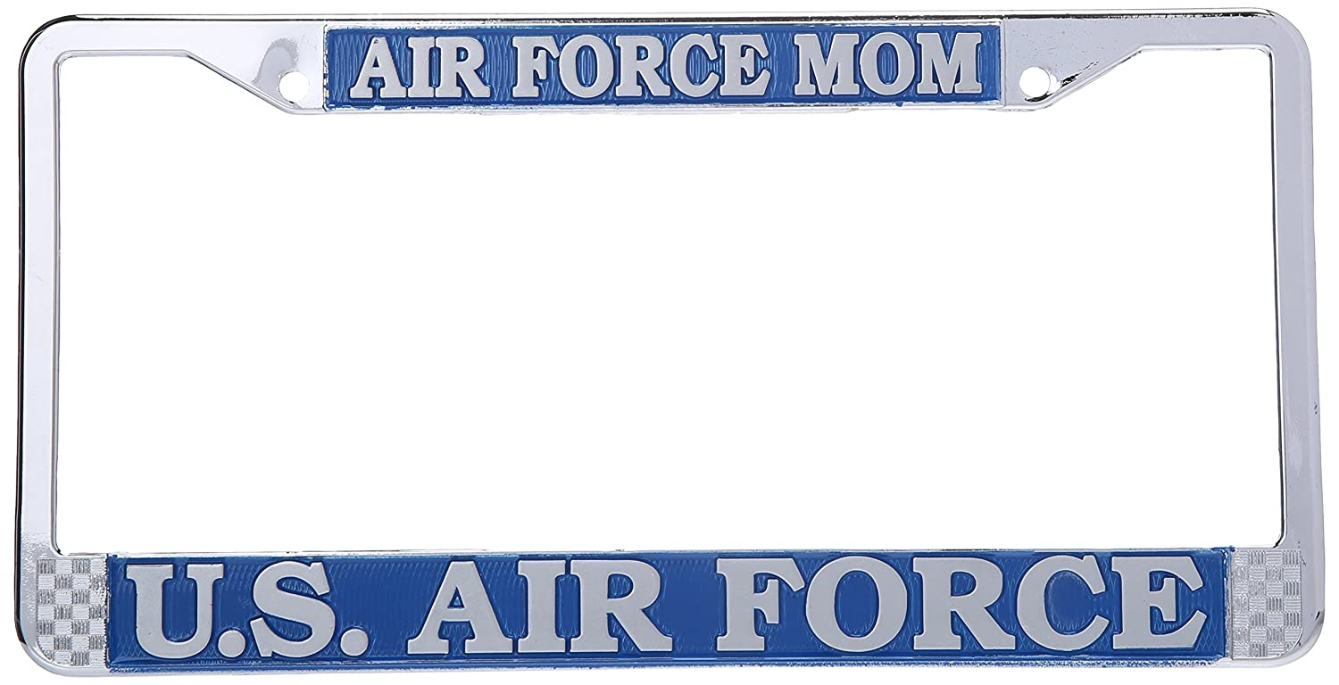 Mitchell Proffitt AF04 Chrome Metal Air Force Mom US Air Force License Plate Frame