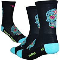 DEFEET Aireator 5 Sugar Scull Black-Blue Socks 2016