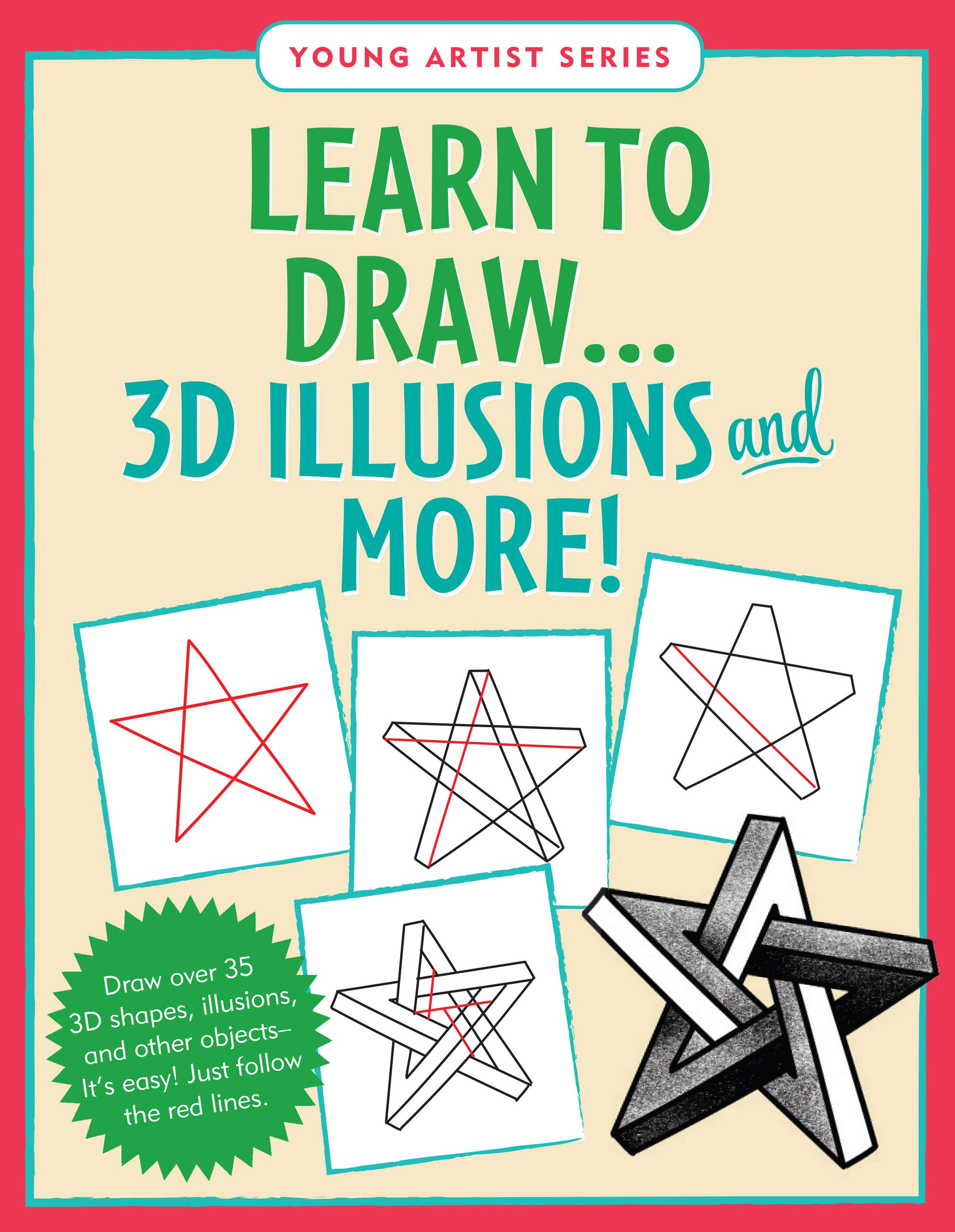 Learn To Draw 3d Illusions Easy Step By Step Drawing Guide Peter Pauper Press 9781441335036 Books
