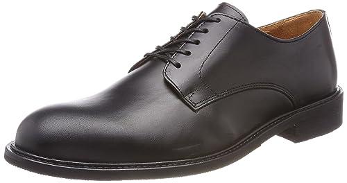 Selected Shdbaxter Leather Shoe Noos, Derbys Homme, Noir (Black), 43 EU