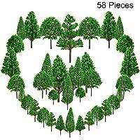 Trounistro 58 Pieces Model Trees Model Railroad Scenery Diorama Tree Miniature Landscape Scenery Diorama Models…