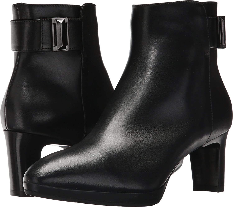 Aquatalia Women's Daniella Suede Ankle Boot B06ZYP4DLD 10.5 B(M) US|Black Calf