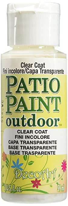 DecoArt Patio Paint, 2 Ounce, Clear Coat