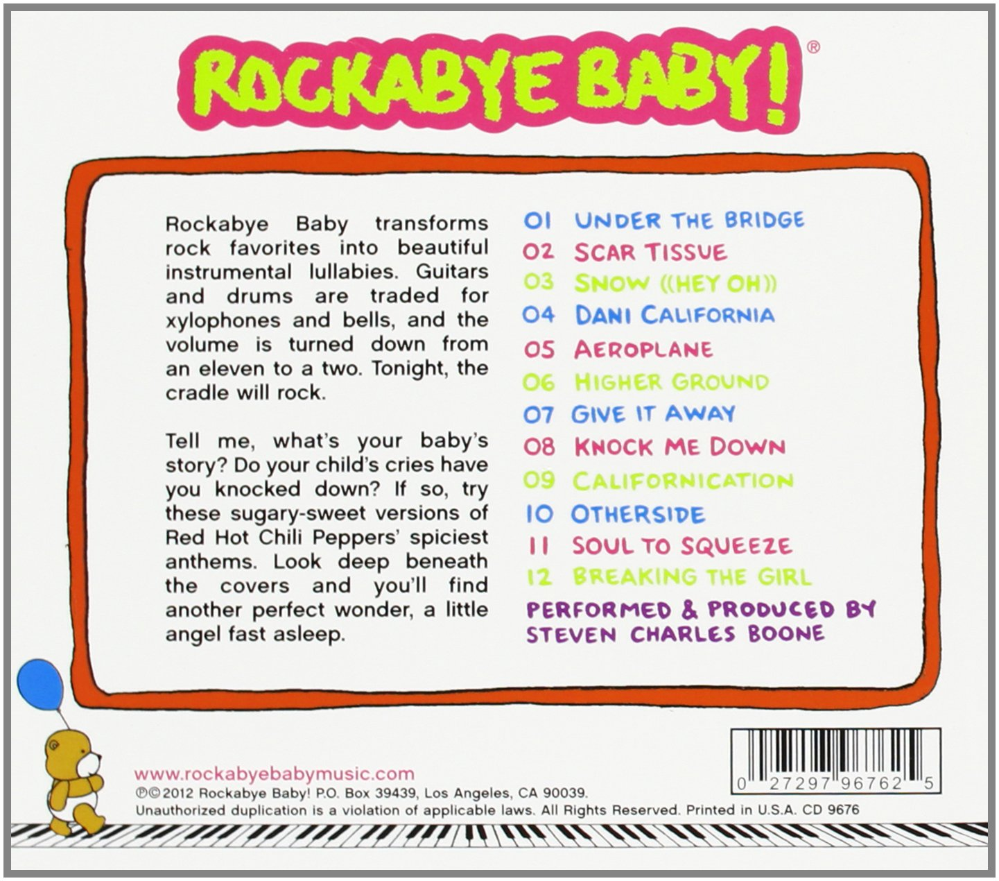 Rockabye Baby! Lullaby Renditions of Red Hot Chili Peppers