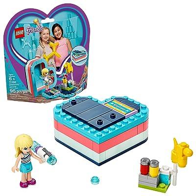 LEGO Friends Stephanie's Summer Heart Box 41386 Building Kit (95 Pieces): Toys & Games