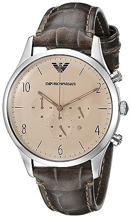 92f3a1b80 Emporio Armani Beta Men's Cream Dial Leather Band Watch - AR1878 ...