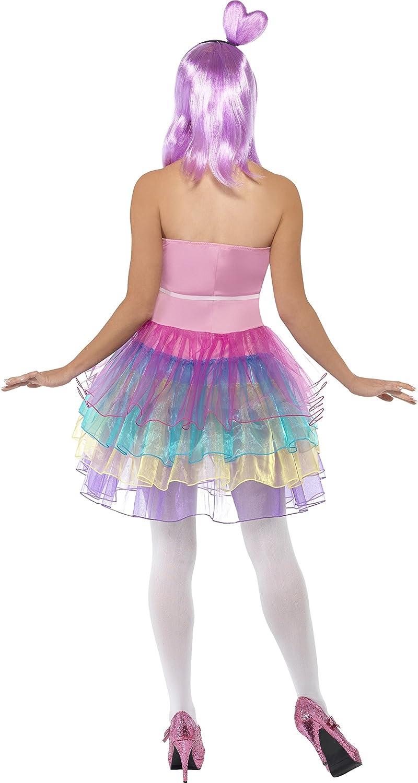SmiffyS 23030M Disfraz De Reina De Golosinas Canesú De Látex Con Vestido, Rosado, M - Eu Tamaño 40-42: Smiffys: Amazon.es: Juguetes y juegos