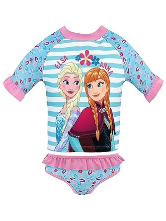 ebc9ced87ad8 Disney La Reine des Neiges - Maillot de Bain Deux pièces - Frozen - Fille -