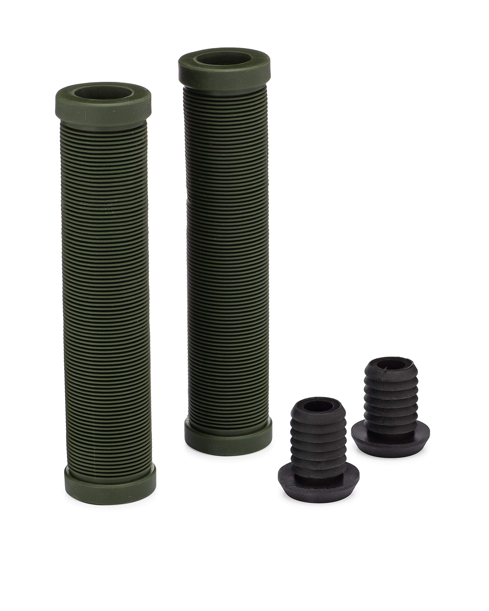 25Nine Ronin Grip Without Flange Flangeless BMX Bike and Scooter Handlebar Grips with End Plugs