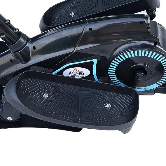 Homcom Entrenador Elíptico de Fitness Bicicleta Elíptica Resistencia Ajustable Pantalla LCD Manillar Ajustable Carga 110kg Acero: Amazon.es: Deportes y aire ...