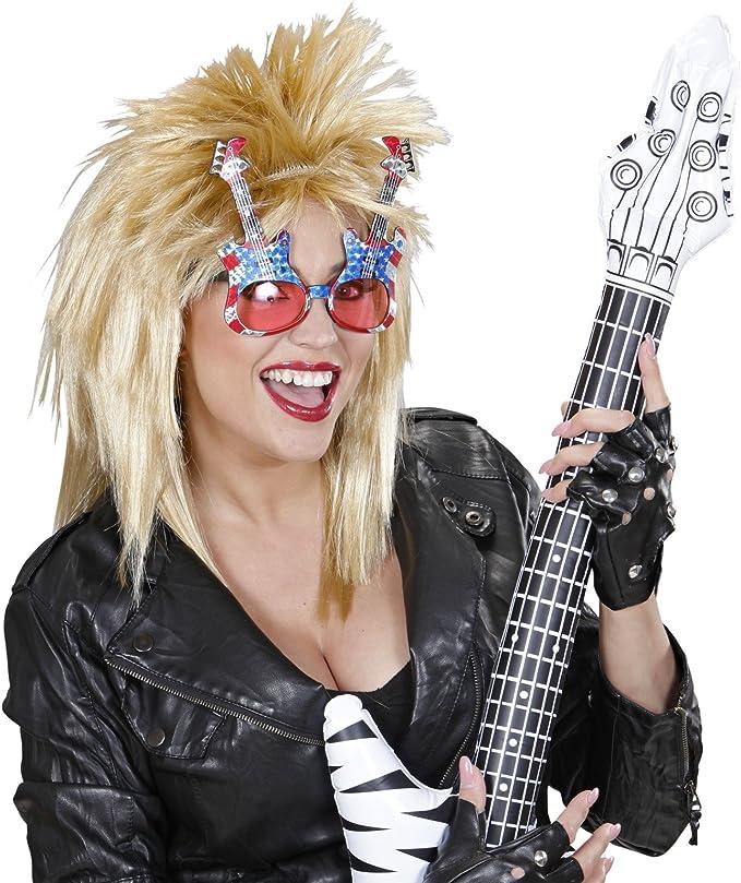 American Rock Star motivo Occhiali da sole Carnevale o feste a tema////chitarra di compleanno per bambini Birthday Stars Stripes fan occhiali rosso bianco blu Stars America ci costumi in maschera per Halloween