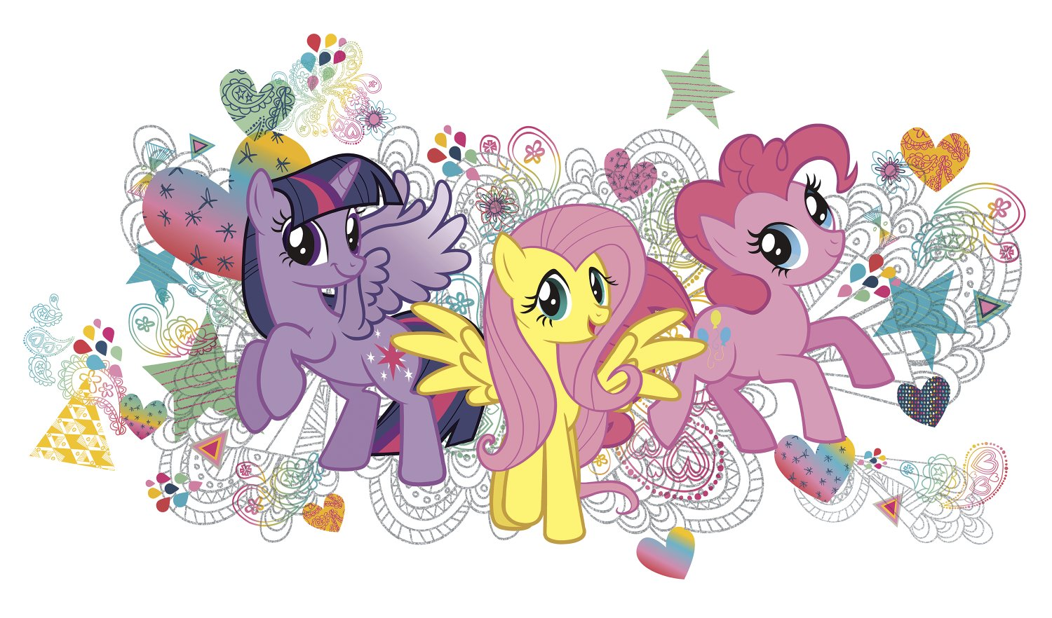 York Wallcoverings RMK2708GM RoomMates My Little Pony Wall Graphix Peel and Stick Giant Wall Decals
