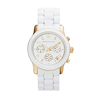 a183bddba21b Michael Kors MK5145 Women s Two Tone Stainless Steel Quartz Chronograph  White Dial Watch