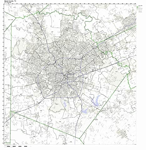 bexar county zip code map