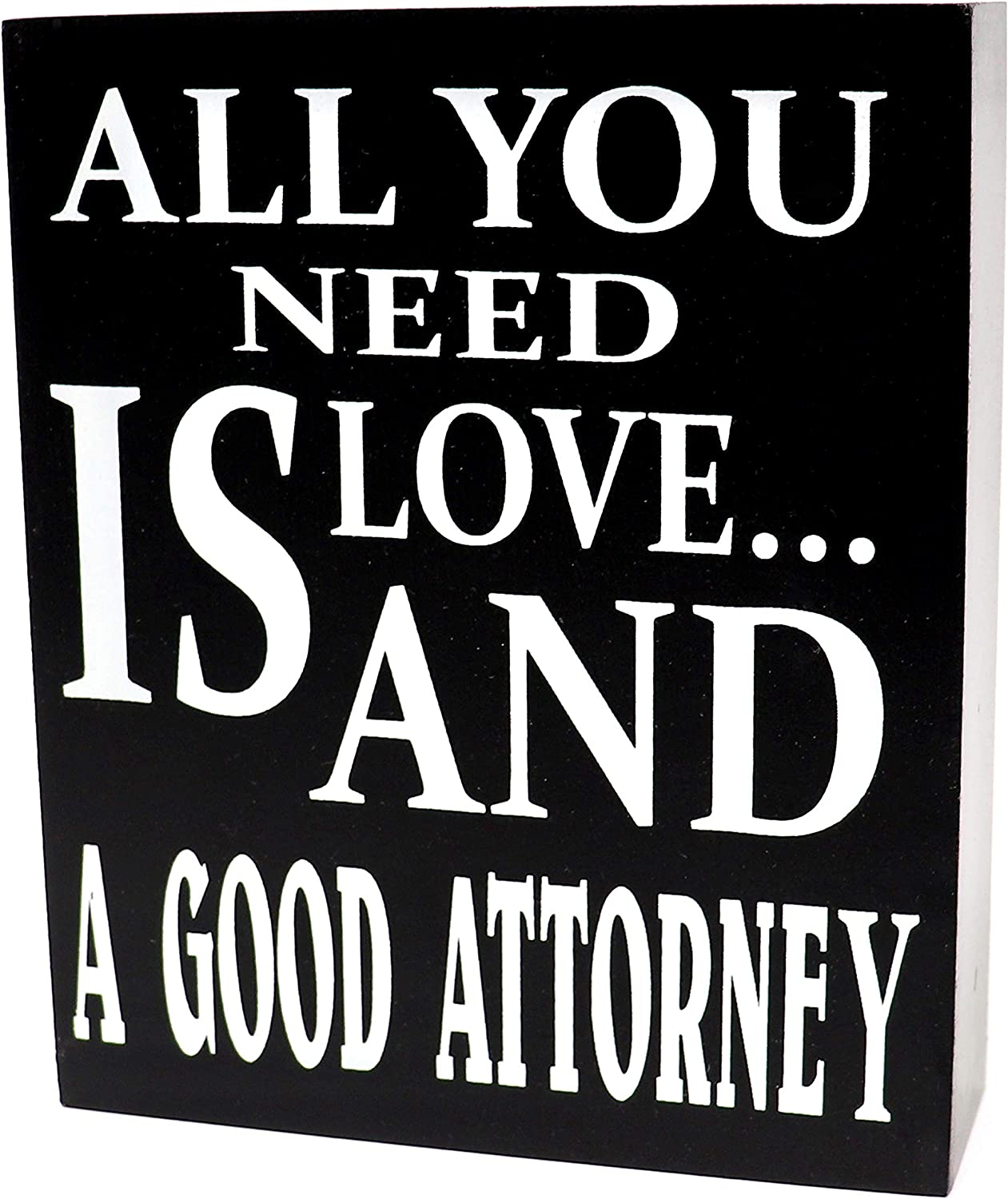 JennyGems Lawyer Sign, Lawyer Gifts, Wood Signs - All You Need is Love and A Good Attorney - Lawyer Plaque - Attorney and Lawyer Gifts - Law Student ...