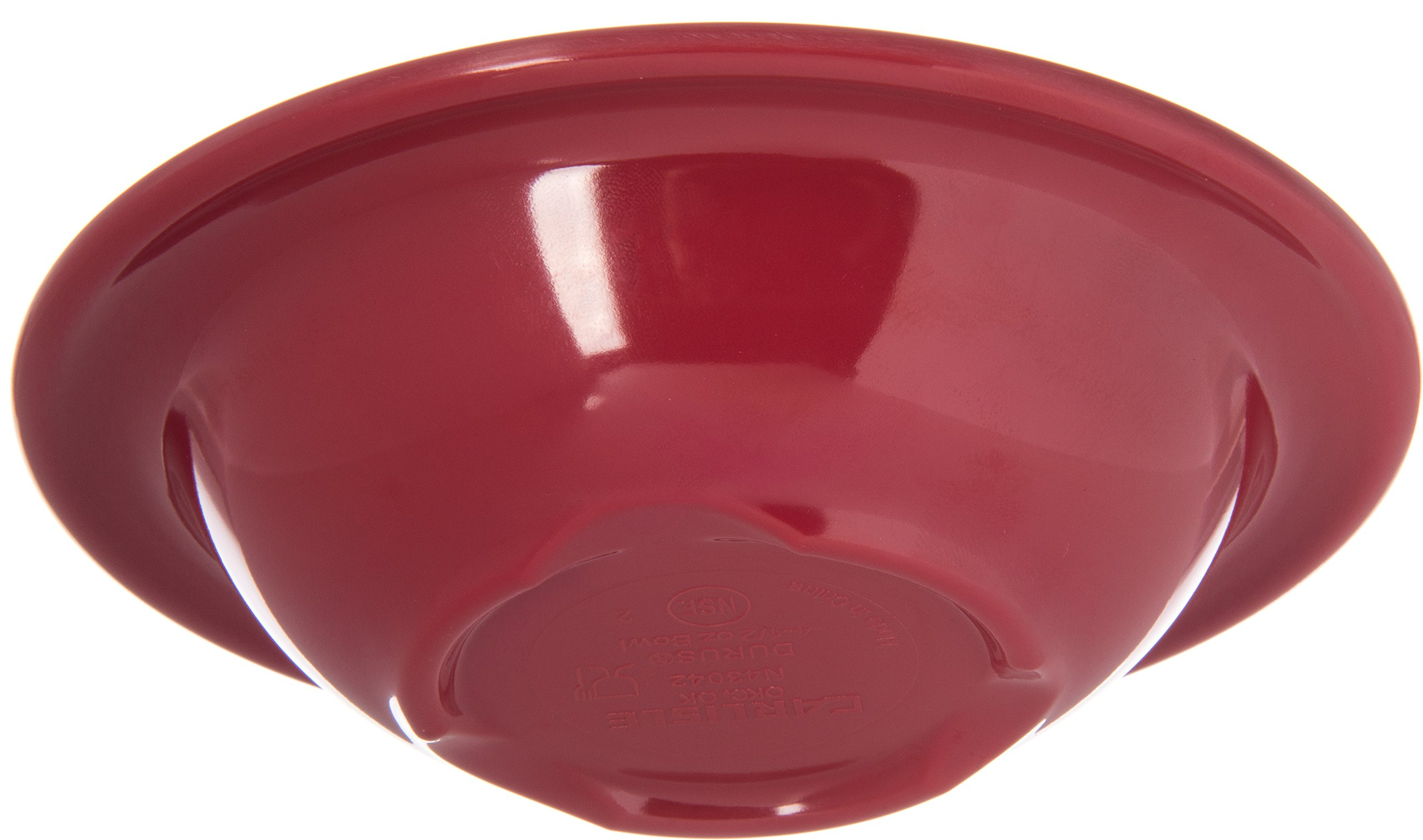 Carlisle 4304258 Durus Rimmed Melamine Fruit Bowl, 4 Oz., Roma Red (Pack of 48) by Carlisle (Image #5)