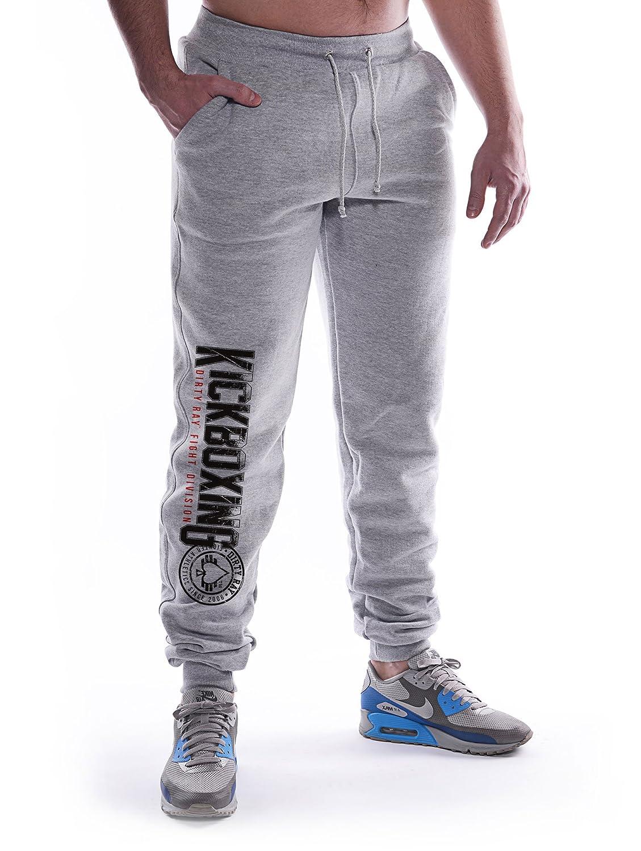 Dirty Ray Kickboxing Division pantal/ón de ch/ándal hombre con bajo el/ástico SDKB1S