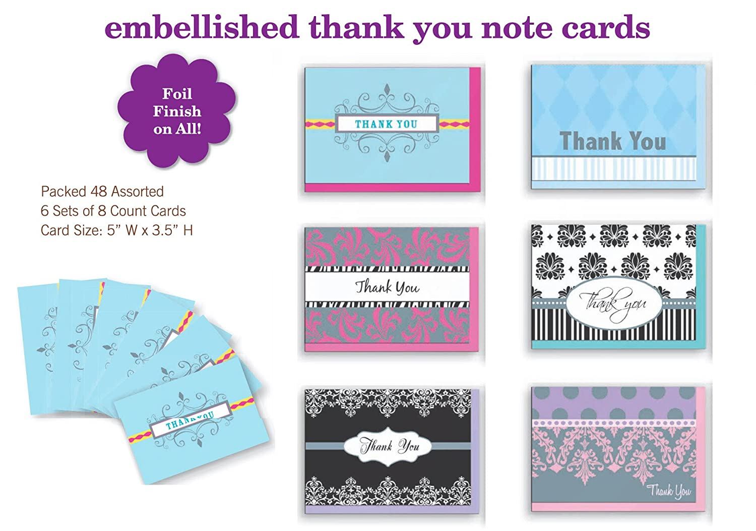 assorted thank you appreciation cards bulk blank note cards set 48