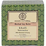 Khadi Natural Watermelon Lip Balm With Beeswax and Sheabutter, 5gms