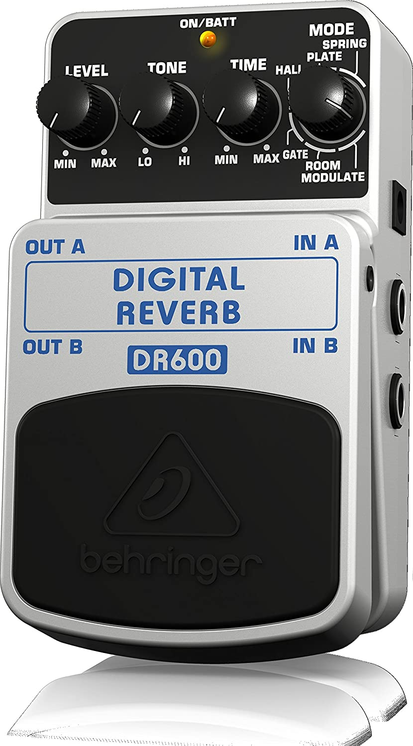 Behringer DR600 DIGITAL REVERB Digital Stereo Reverb Effects Pedal