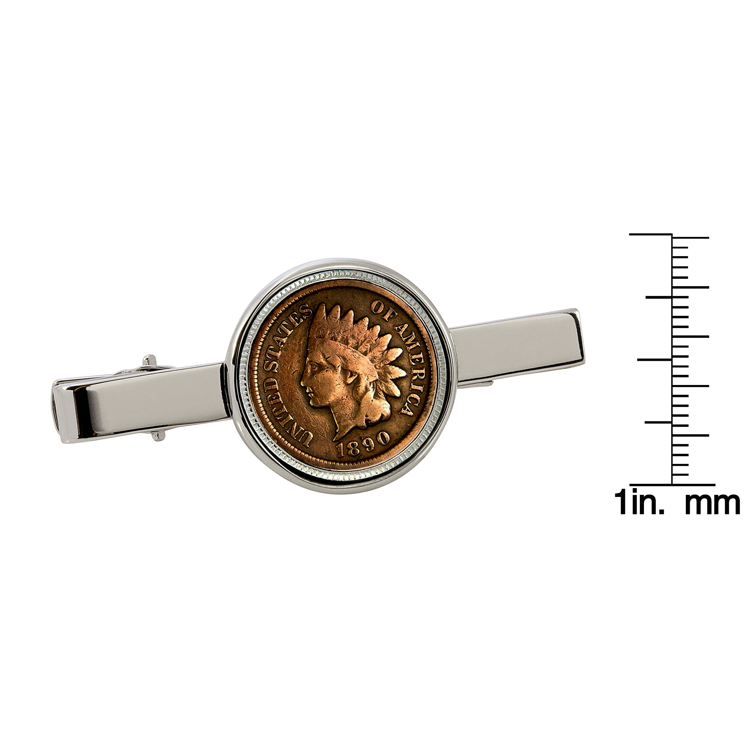 American Coin Treasures 1800's Indian Penny Silvertone Coin Tie Clip by American Coin Treasures (Image #3)