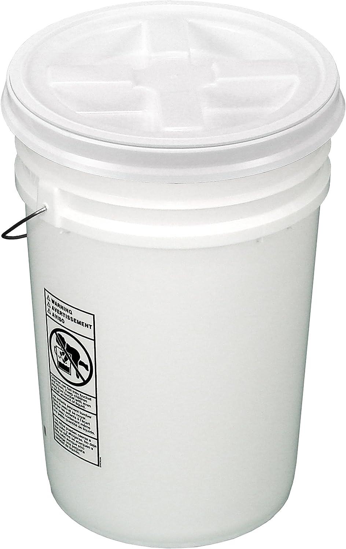 Bucket Kit, White 6-Gallon Bucket with White Gamma Seal Lid