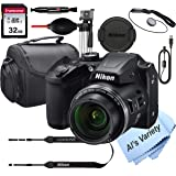 Nikon COOLPIX B500 16 MegaPixel Digital Camera + 32GB Card, Tripod, Case and More (13pc Bundle)