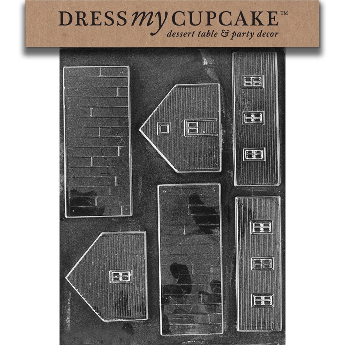 Dress My Cupcake DMCM056SET Chocolate Candy Mold, School, Set of 6