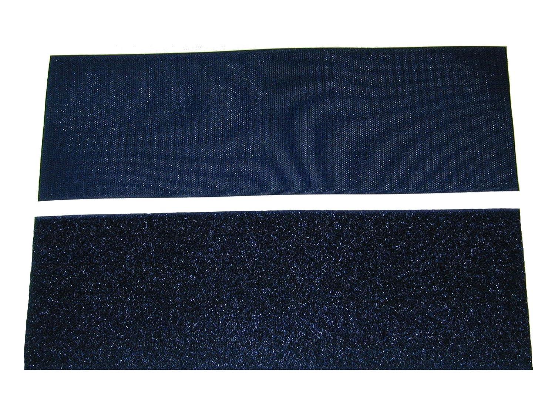 4 Dark Navy Blue Sew on Hook and Loop - 12 of Hook 12 of Loop Per Package Generic
