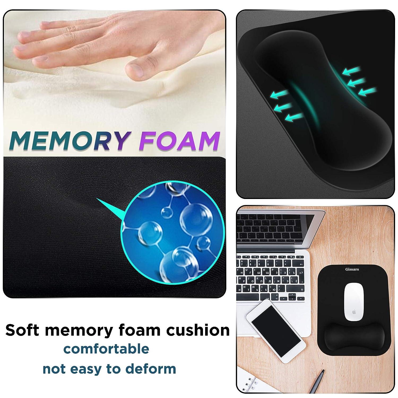 Gimars Handgelenkauflage f/ür Tastatur und Maus aus Memory-Schaum,ergonomische Handgelenkst/ütze Set mit Rutschfeste Unterlage f/ür Gaming /& Arbeit