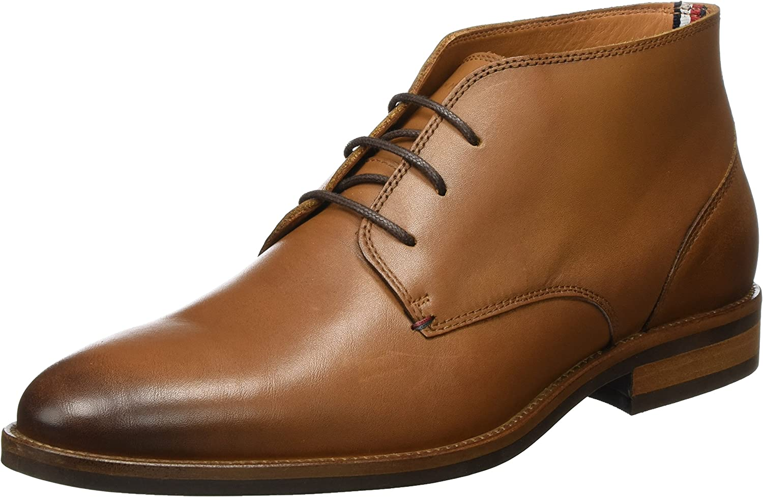 Tommy Hilfiger Essential Leather Boot, Botas Chukka para Hombre