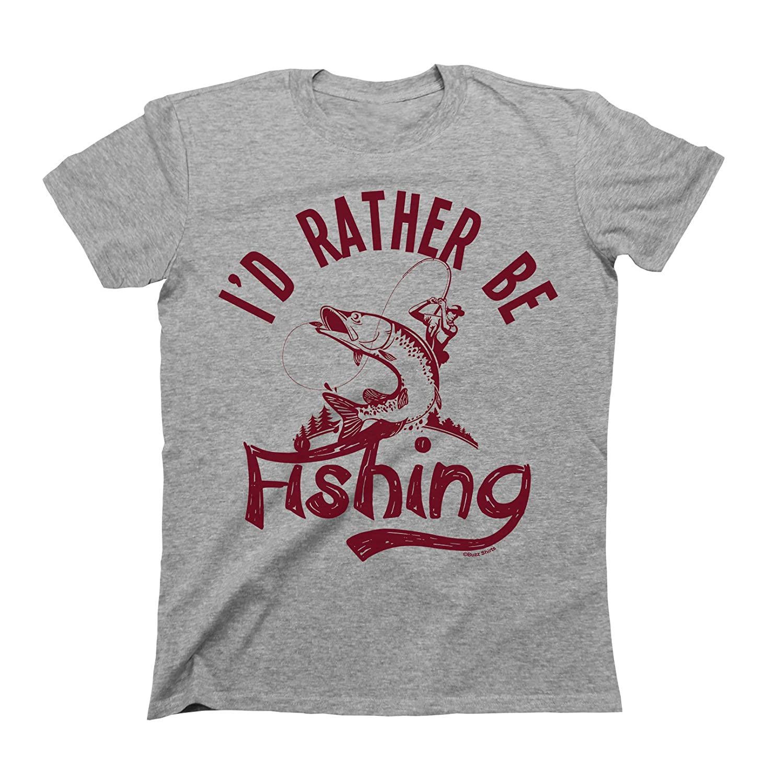 I`d Rather Be FISHING T-Shirt Boys Girls Kids Unisex Fit Buzz Shirts
