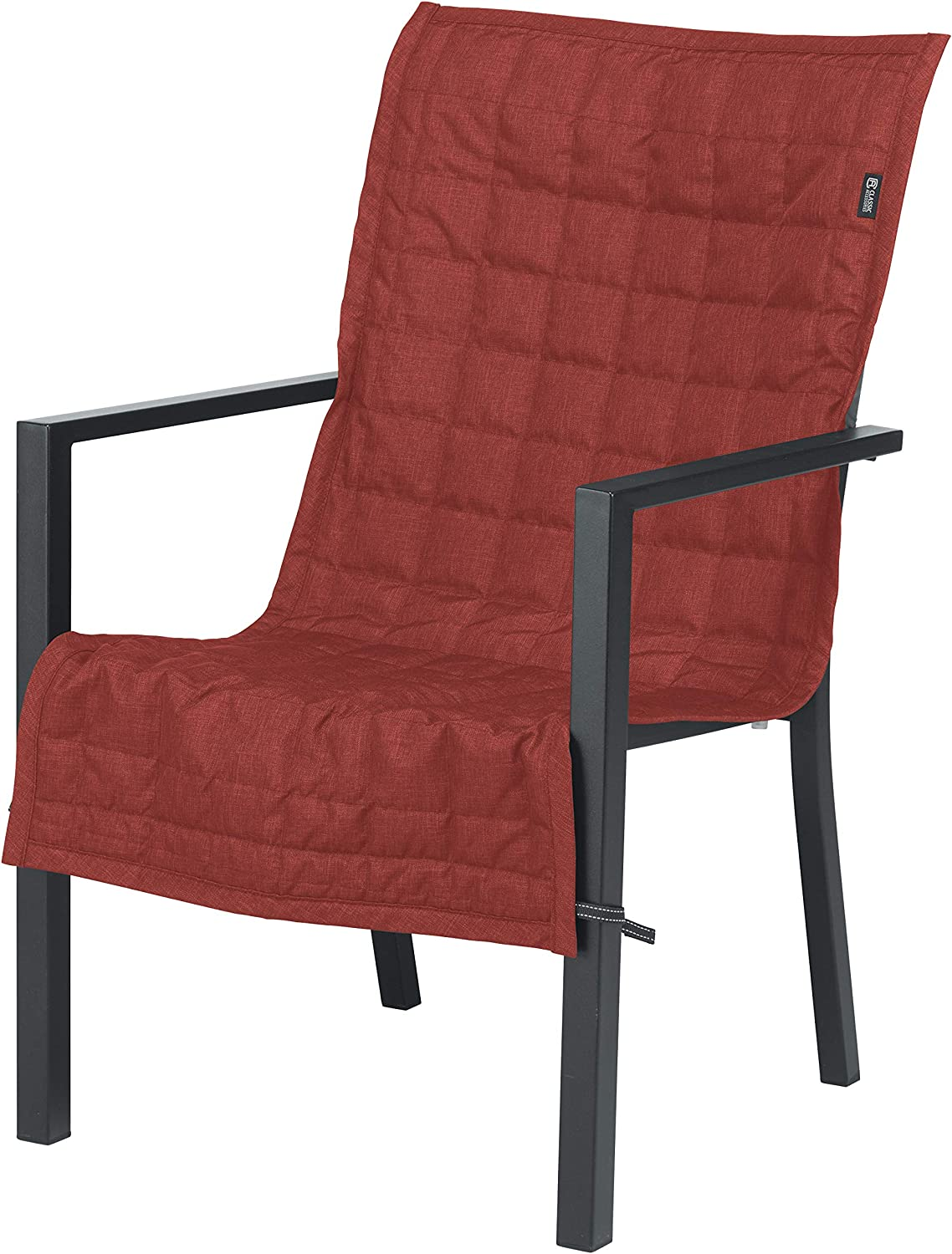 Classic Accessories Montlake Water-Resistant 45 Inch Patio Chair Slipcover, Heather Henna