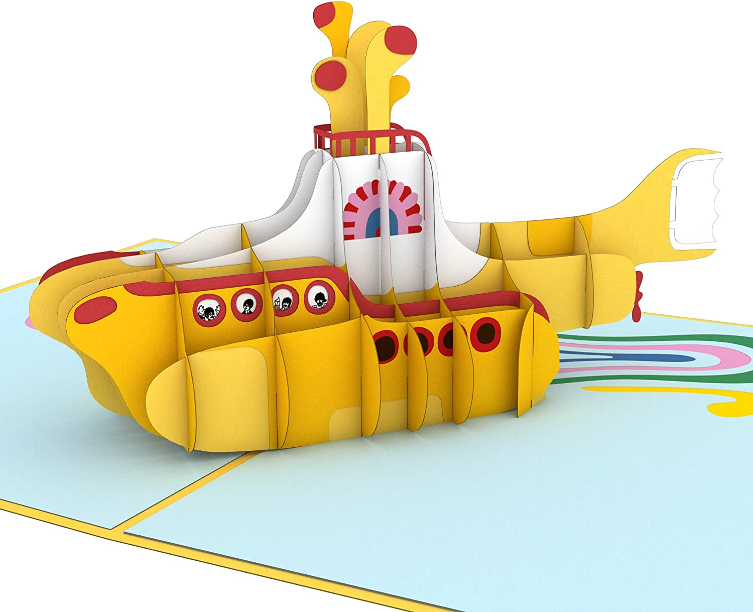 The Beatles Yellow Submarine Birthday Fathers Mothers Day Blank Card