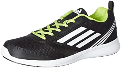 adidas Men's Adiray M Black, White and Yellow Running Shoes - 11 UK/India