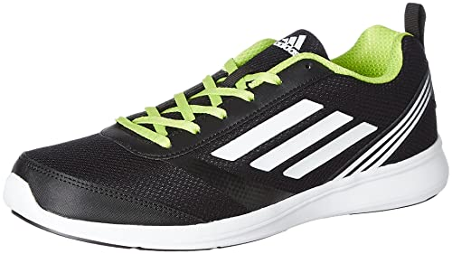 best website 8accc ace2d Adidas Mens Adiray M Black, White and Yellow Running Shoes - 7 UKIndia