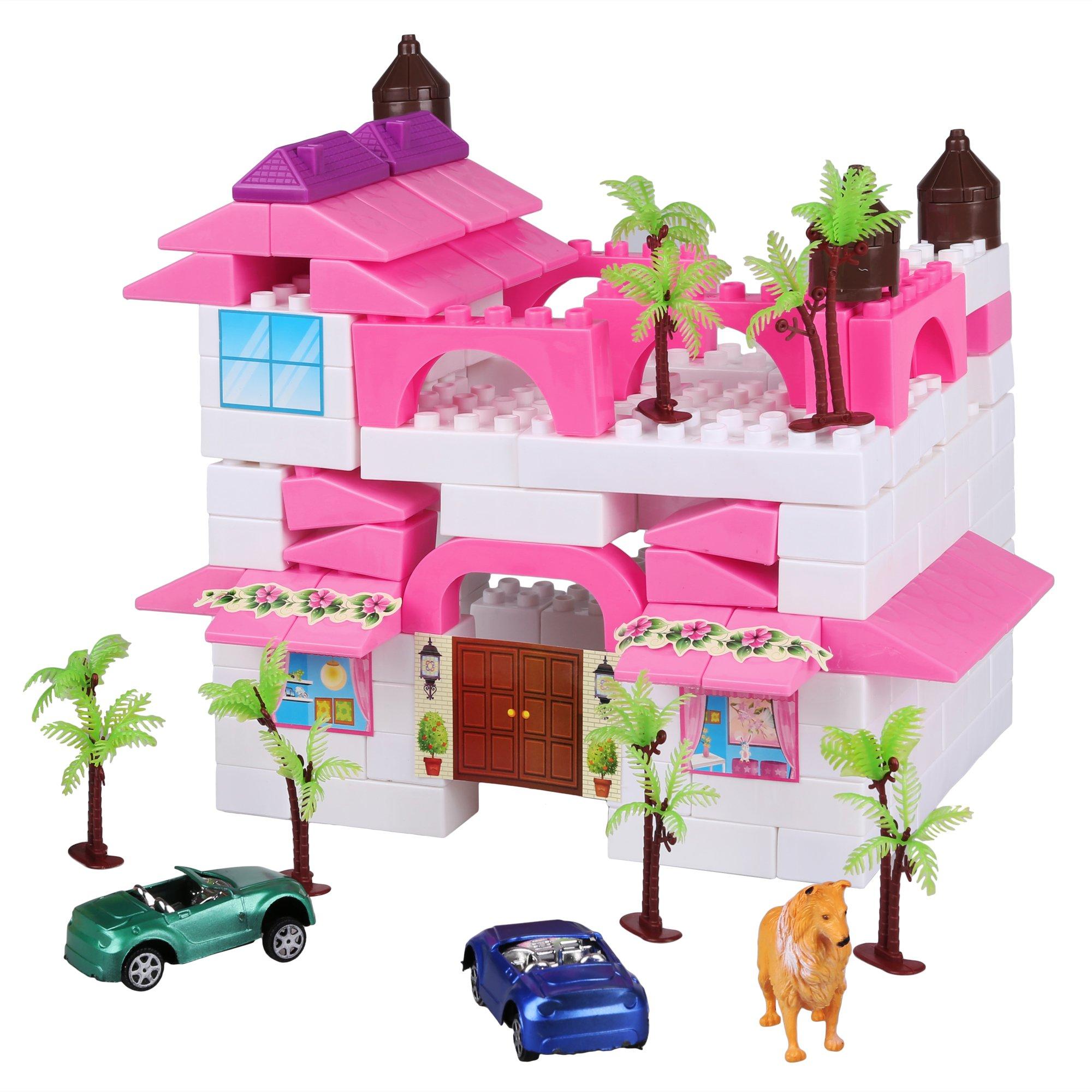 Zaplue Kid Building Block Bricks Set, 140 PCS Plastic Construction Bricks, Wisdom Development Preschool Puzzle Educational Toy Child Gift (Above 3 Year-Old) (Style 1)