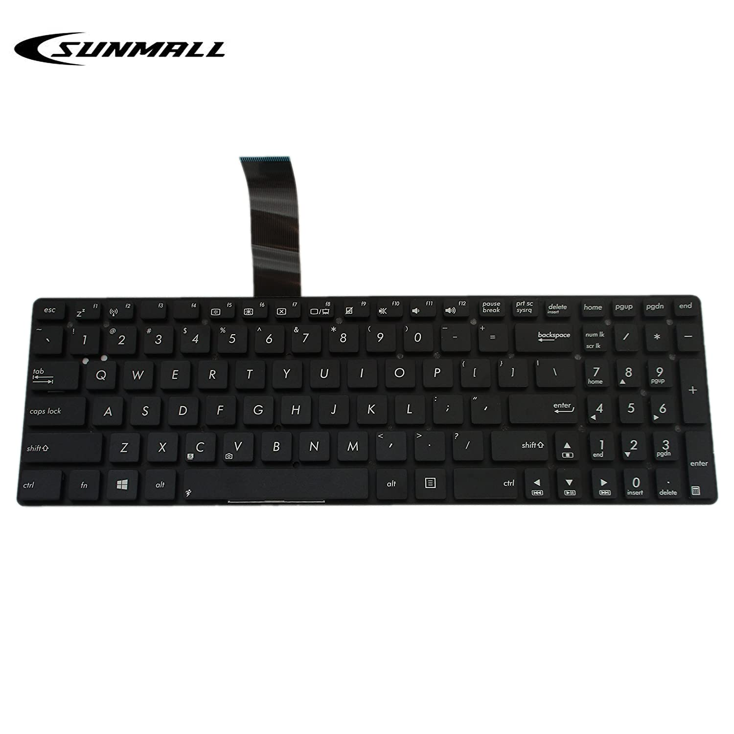 Wonderlijk Amazon.com: SUNMALL Keyboard Replacement Compatible with Asus K55 EJ-05